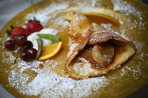 Breakfast Crepes are a staple at Hemingways by the Sea